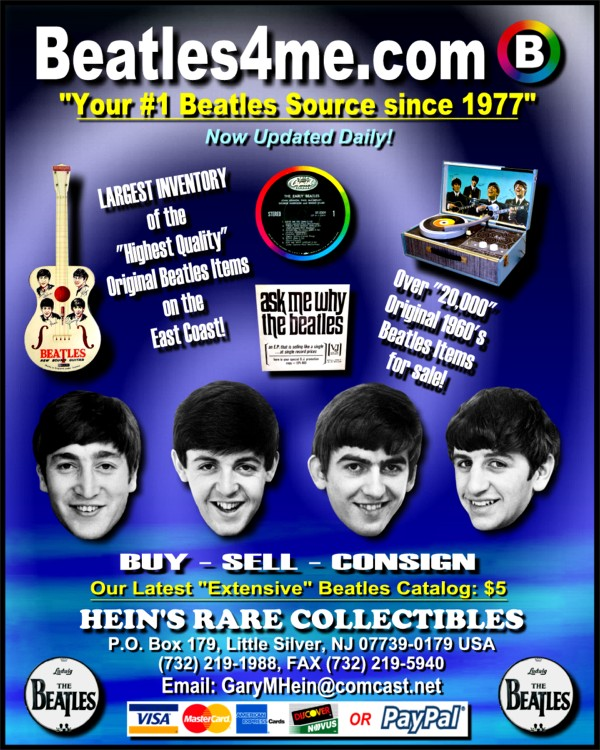 Collectible Beatle PS's available on our website.  Click here to view!