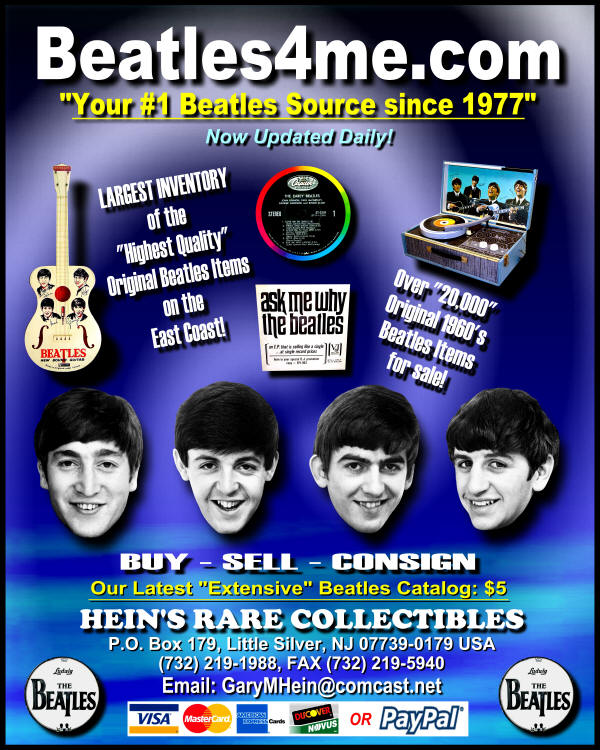Beatles Albums Beatle Memorabilia @ Beatles4me.com - Collectibles Anthology Records Merchandise Record Yellow Submarine Singles John Lennon Imagine Autographs Paul McCartney Yesterday George Harrison Ringo Starr Fab Four Records 4 Sale!